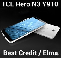 """Original TCL Hero N3 Y910 MTK6589T quad core 1.5Ghz  Android 4.2 mobile phone 6.0"""" IPS 3G cell phone 2GB+16GB 13MP in stock/Elma"""