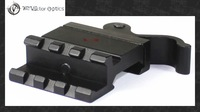 Vector Optics Compact Quick Release Picatinny Rail Offset QR Angle Mount 21mm Base For Red Dot Sights , Lasers , Flashlights