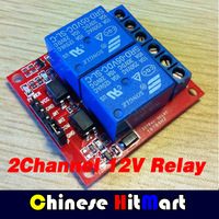 wholesale 50pcs/lot 2 Channel 12V Relay Module For PIC ARM AVR DSP free shipping-10000336 free shipping #J216
