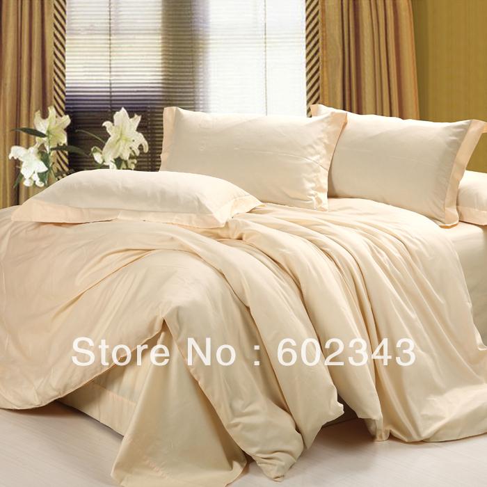 Bedding 5pcs Solid Color Deep Pink Comforter Setsduvet
