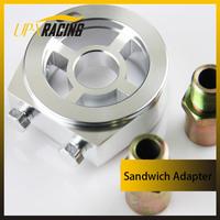 Racing Sport JDM Aluminum Oil/Gauge Filter Sandwich Adapter Plate Kit