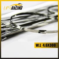 100 pcs 4.6x300mm stainless Steel tie zip lock exhaust wrap coated locking cable ties cable tie steel