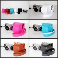 New High Quality Camera Leather Case Bag For Panasonic lumix GM1 GM-1 digital camera with 12-23mm lens
