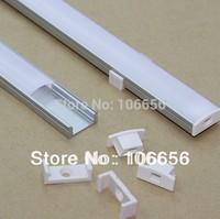 free shipping 10pcs/lot FROSTED/TRANSPARENT Cover aluminium led profile