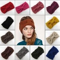 Wholesale Fashion Ear Warmer Women Crochet Headwrap Knitted Turban Headbands,girl's hair accessories 20 pcs/lot