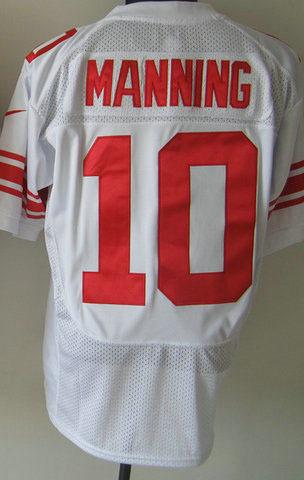 Wholesale Price eli manning football jerseys throwbacks ELITE 10 manning white(China (Mainland))