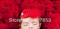 Baby feather headband girl flower headband,shabby flower Headband 500pcs/lot