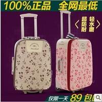 Lulu bibcock fashion cartoon luggage bag trolley luggage box canvas travel bag