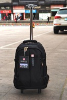 Yasmaks double-shoulder trolley backpack travel trolley bag luggage ultra-light oxford fabric trolley bag casual bags