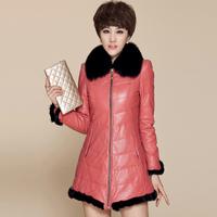 2013 fox fur sheepskin female genuine leather clothing down coat