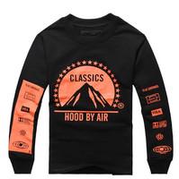 Fashion biggie design Korean element men HBA hip pop crewneck fleece hoodies streetwear thick thermal casaco pullover for lover