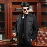 2013 autumn male cashmere outerwear medium-long woolen overcoat business casual men's clothing