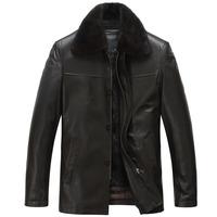 Sheep genuine leather clothing male 2013 sheepskin male jacket outerwear 1070