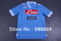 new Napoli 12/13 Home top thai blue jersey 100% polyester soccer jersey soccer clothes free shipping Size: S - XL