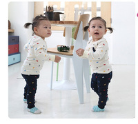 wholesale 3sets/lot children's clothing 2014 new long-sleeved polo neutral color suit hit the spot to grab grant money