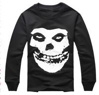 HBA thick fleece hoodies Fashion biggie design Supreme kinky skull print men hip pop crewneck streetwear casaco pullover winter
