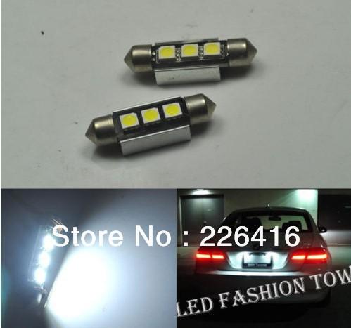Free shipping,2x No Error 36MM LED License plate Lights For BMW E46 E90 E92 E39 E53 E60 E71, Excellent !(China (Mainland))
