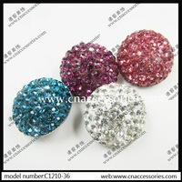 glass rhinestone button,5pcs/lot,luxury coat decoration rhinestone button,shinning gemstone fastener #4515/1723