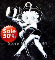 M1191 Wholesale 50Pcs/Lots Enamel Beauty with hat Charms Pendant Metal 43*33mm