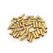 New Hot Sale 20 Pairs 3.5mm Gold Tone Metal Bullet Banana Plug Connector RC Battery(China (Mainland))