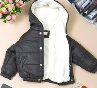 1pcs  retail Hot~High quality,winter children's clothing, polo boy's Winter to keep warm even cap coat, baby clothes,4 pcs/lot