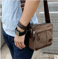 Canvas bag male shoulder bag messenger bag small bag casual bag