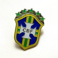 brazil  brooch  Supplies european cup world cup team badge brooch  small metal souvenir badge football team metal badge