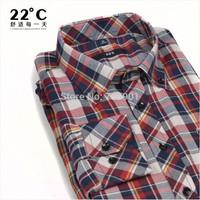 Dress Shirts cotton long sleeve shirt boss  men's Formal  shirt cotton Plaid Shirt