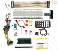 Raspberry Pi GPIO Electronics Starter Kit T-Cobbler,IR remote,Switch,LCD,DS18B20