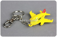 4cm Cute Mini Three-dimensional 3D ADAC Ambulance Airlines Plane Keychain Key chain Airplane Keyring Key Ring Free Shipping