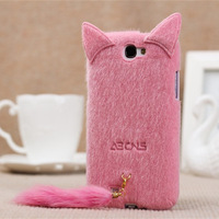 Plush cat  for SAMSUNG   i9300 mobile phone case phone case i9220 n7100 i9100 protective case shell Free shipping
