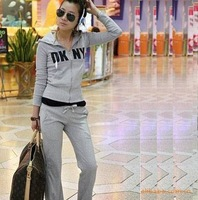 2014 spring and autumn women's fashion gym sports hoodie tracksuits sportswear