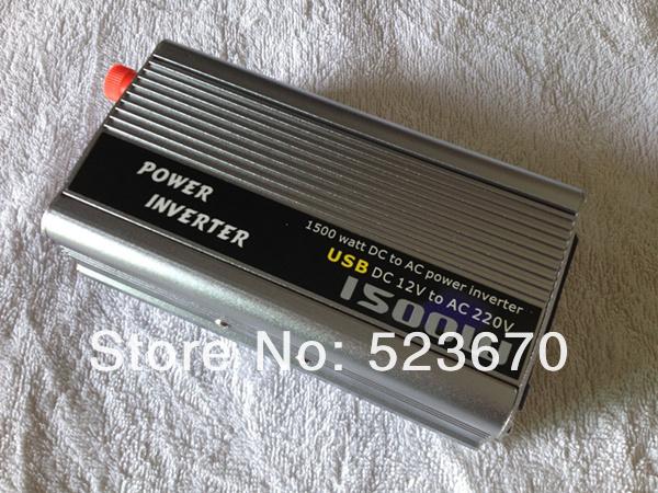 1.5KW 1500W 1500 Watt Modified Sine Wave Power Inverter Home Car DC 12V to AC 220-240V Converter + USB(China (Mainland))