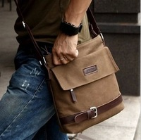 2014 vintage canvas bag leather Travel Bags