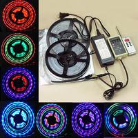 10M 5050 RGB Dream Color 133 change 6803 IC LED Strip & RF Remote & power supply