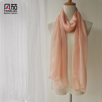 Gift powder silk scarf mulberry silk autumn and winter scarf cape
