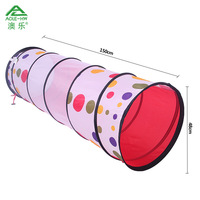 Dot Printed AOLE-HW Tunnel Tube  Play Tent Tunnel Crawling Toy for Child Play Classic Toys Outdoor Fun & Sports Brinquedos Kids