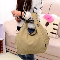 Duomaomao canvas big bag women's handbag shoulder bag vintage  fashion women bag