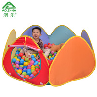 Six-sided AOLE-HW Ocean Ball Tent Pool Multi-colored Ball Pool Toys Outdoor Fun & Sports Children Toys Kids Play Tunnel Pool