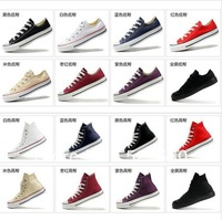 Factory Direct  size 35-45 Free Shipping 2013 new unisex fashion high and low women sneakers, men sneakers and canvas shoes