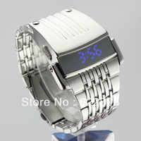Iron man Conception luxury led watch with stainless steel fashion men watches free shipping