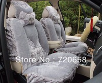Brand New Thick Long Plush Warm Car Seat Covers Universal Five Seat Keep Warm Car Cushion Mats Full Set MagneTotherapy