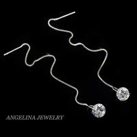FREE SHIPPING~New Jewelry Fashion 925 Silver Sterling Shinning Zircon Romantic Drop Earring
