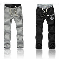 Free Shipping,2014 New Men Casual Sports Pants/ loose male trousers/Loungewear and nightwear,Black&Gray,Plus size M-XXL