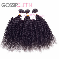 Free Shipping 100% Malaysian Human Curly Hair Weave 3PCS/LOT Color 1b 12-28inches Malaysian Unprocessed Hair Queen Hair Products