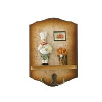 Rustic vintage fashion coat and hat hook wool home decoration wall door brief single hook key hang