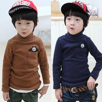 2013 autumn and winter pocket child clothing boys long-sleeve turtleneck t-shirt basic shirt tx-2235