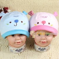 Free shipping wholesale price Spring and autumn child 100% male baby cotton hat sleeping cap egregiousness cap pocket hat