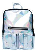 New arrival reflective symphony HARAJUKU hologram laser backpack bag metal silver space backpack