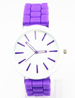 freeshipping 2pcs/lot latest new model of silicone candy jelly watch,quartz movement silicon band 15colors fashion for women/men
